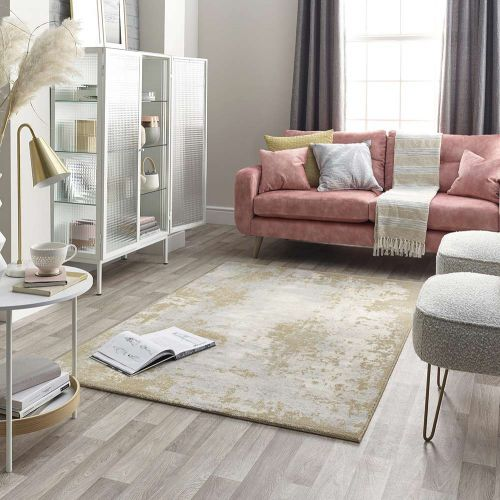 Gold Grey Cream Rug Chamonix