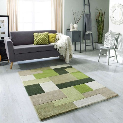 Lexus Green Wool Rug
