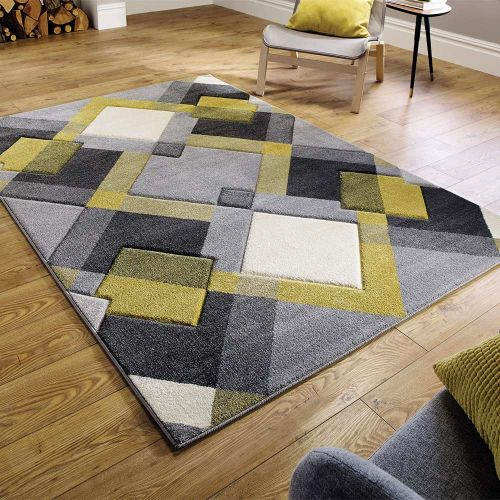 Grey Ochre Hand Carved Rug