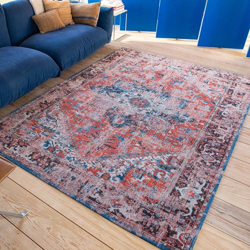 Heriz Antique Rug 8703 Classic Brick