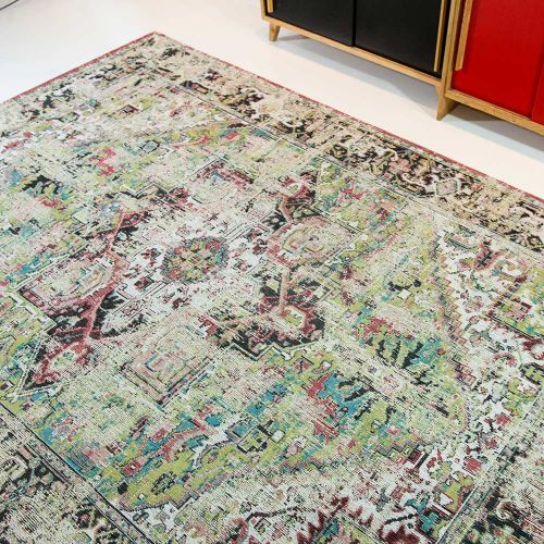 Heriz Antique Rug 8706 Aluv Green