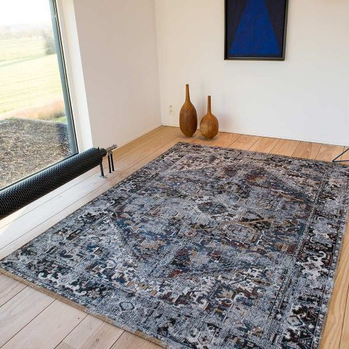Heriz Antique Rug 8707 Divan Blue