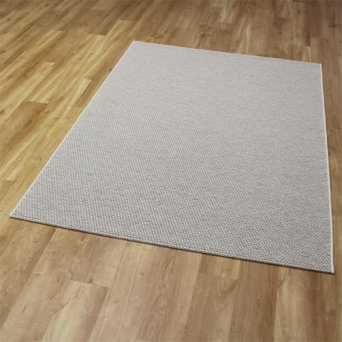 High Line Woolen Rug 6001 White