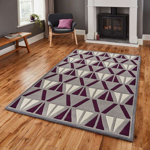 Hong Kong Rug 1374 Grey Purple