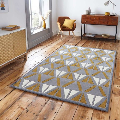 Hong Kong Rug 1374 Grey Yellow