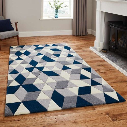 Hong Kong Rug 3653 Grey Navy