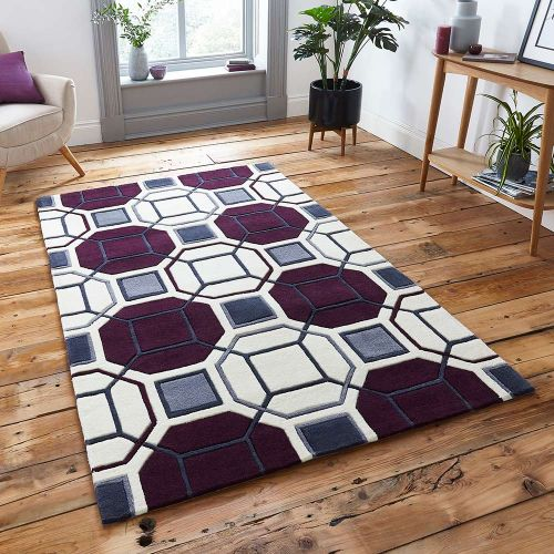 Hong Kong Rug 9238 Ivory Purple