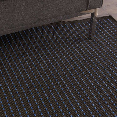Indoor Outdoor Rug CK740 Black Cobalt Blue