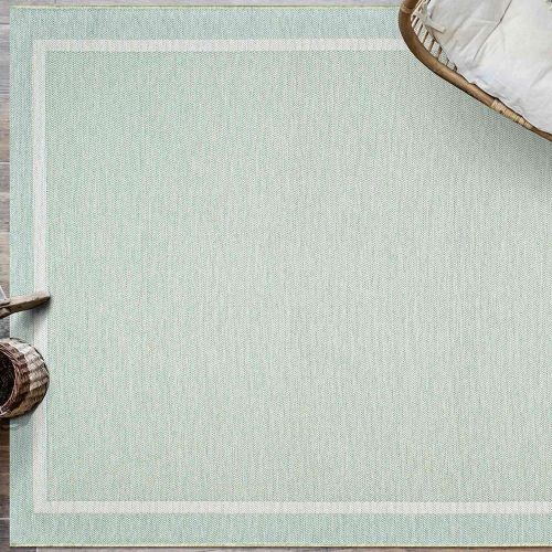 Indoor Outdoor Rug Mint Border Newquay