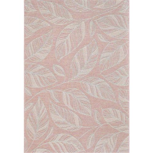 Indoor Outdoor Rug Peach Leaf Newquay