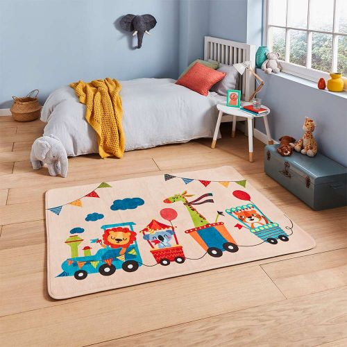 Inspire G3434 Childrens Animal Train Rug