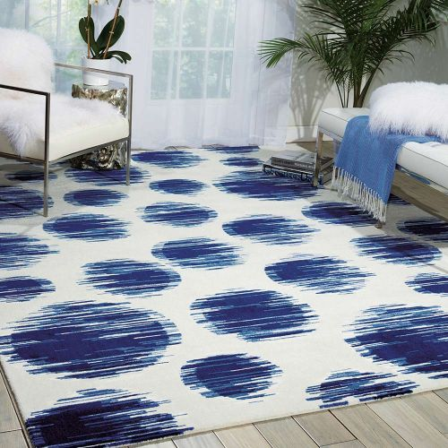 Ivory Blue Twilight Rug Orbs TWI23