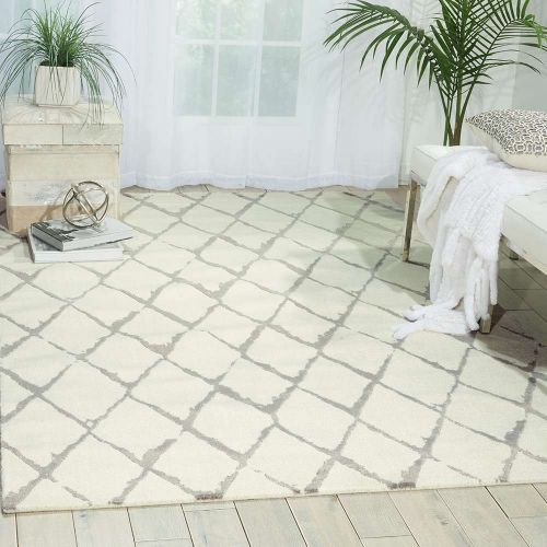 Ivory Grey Twilight Rug Diamonds TWI15