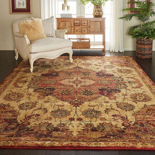 Traditional Jewel JEL01 Cream Red Rug