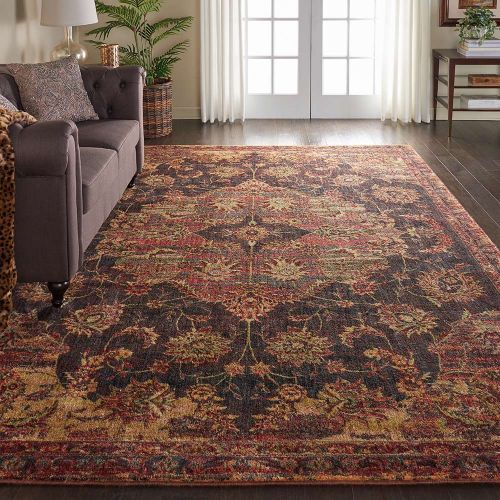 Classic Jewel JEL01 Ember Red Rug