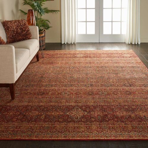 Traditional Jewel JEL03 Brick Red Rug