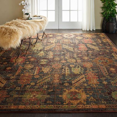 Traditional Jewel JEL04 Denim Blue Rug