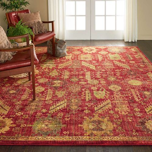 Classic Jewel JEL04 Red Rug