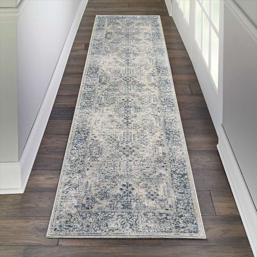 Traditional KI25 Malta MAI12 Ivory Blue Rug