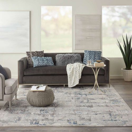 On Sale Ki40 Royal Terrace KI41 Ivory Blue Rug 160x221 Medium