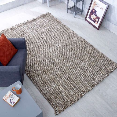 Jute Lago Grey Brown Flatweave Rug