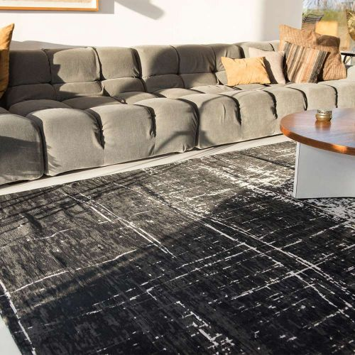 Griff Rug 8655 Black on White