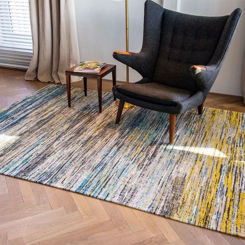 Sari Rug 8873 Blue Yellow Mix