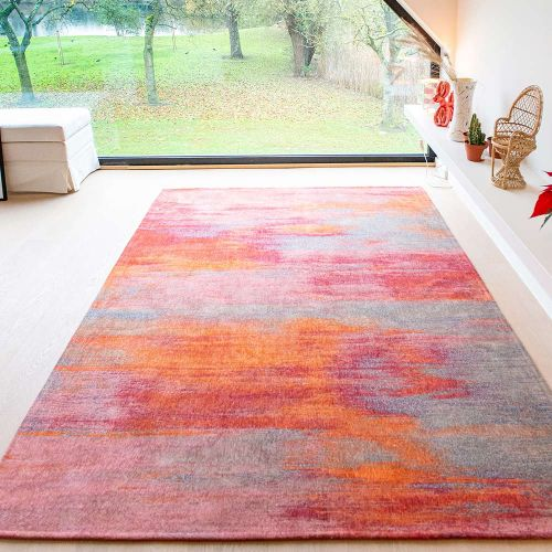 On Sale Atlantic's Monetti 9116 Hibiscus Red Small Rug 80x150cm