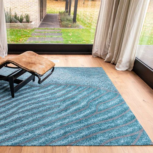 Waves Shores 9132 Blue Nile Rug