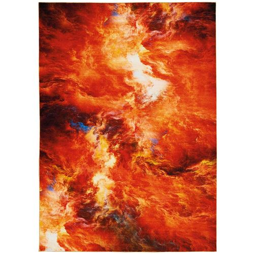 Abstract LE Reve LER05 Red Multi Rug