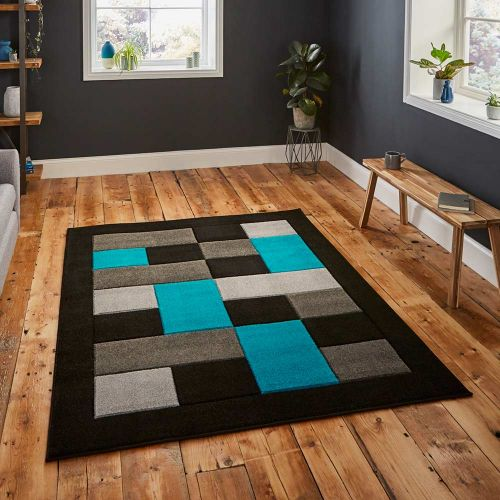Matrix MT04 Black Blue Stylish Rug
