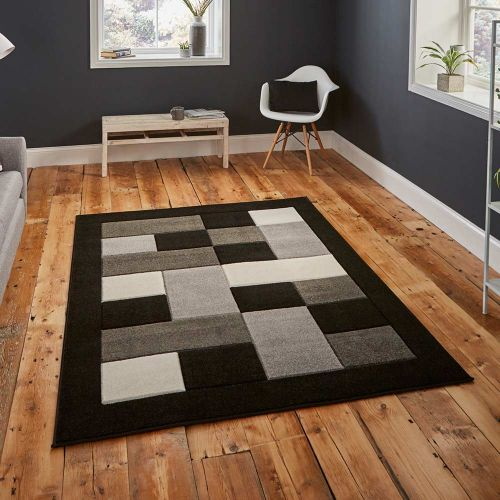 Matrix MT04 Black Grey Stylish Rug