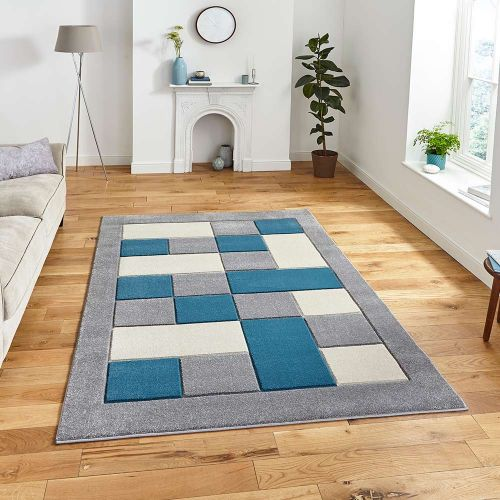 Matrix MT04 Grey Blue Rug