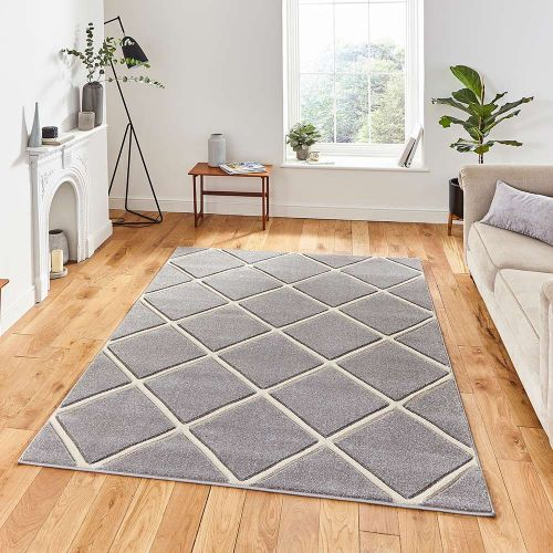 Matrix MT35 Diamonds Grey Cream Rug