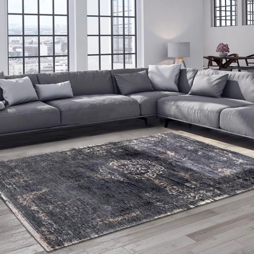 Medallion Rug 8263 Mineral black