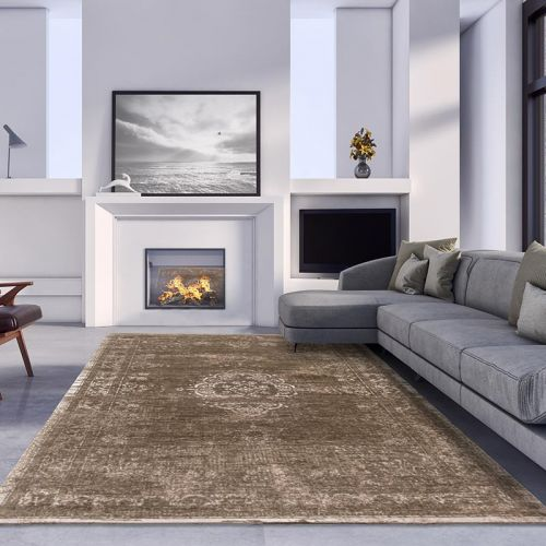 Medallion Rug 8381 Black Pepper