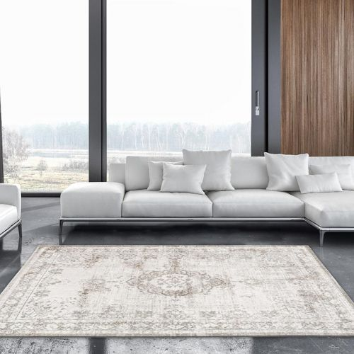 Medallion Rug 8383 Salt Pepper