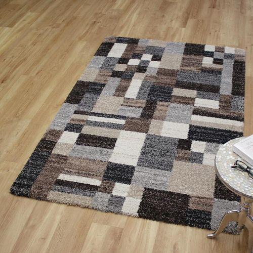 Mehari Rug 6268 Brown Grey Beige