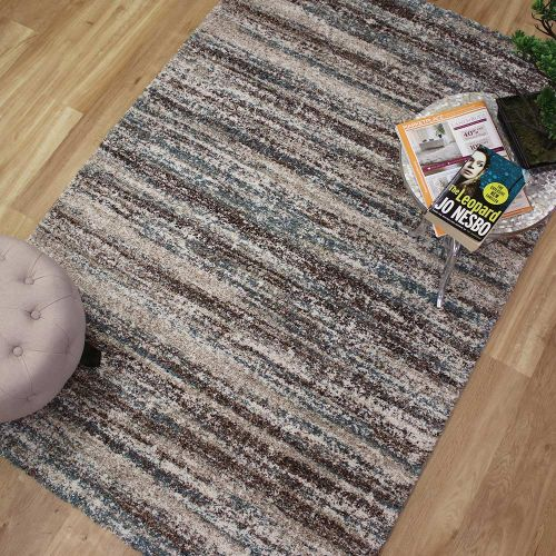 Mehari Rug Brown Blue Beige 94 6959