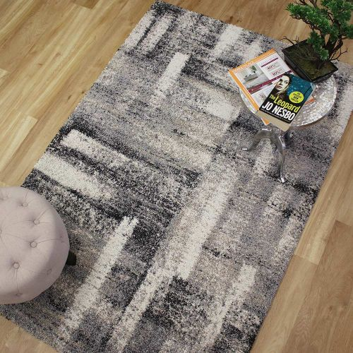 Mehari Rug Grey Black Natural 182 6258