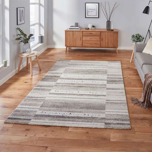Milano N9534 Striped Beige Rug