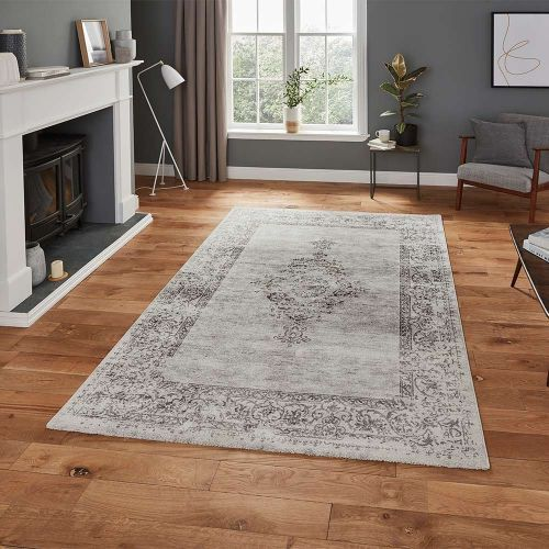 Milano N9695 Traditional Grey Rug