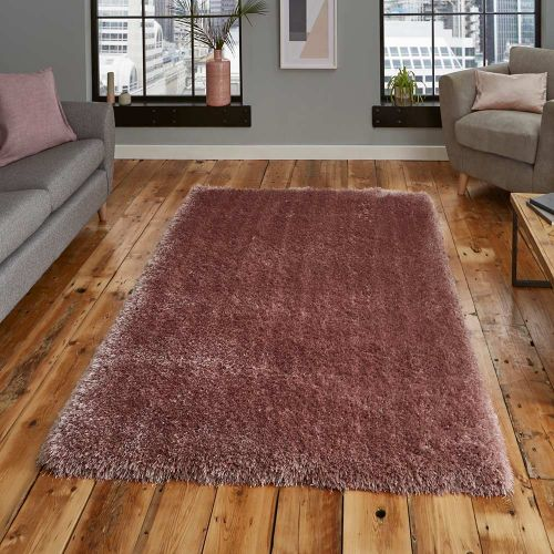 Montana Shaggy Rug Rose Colour