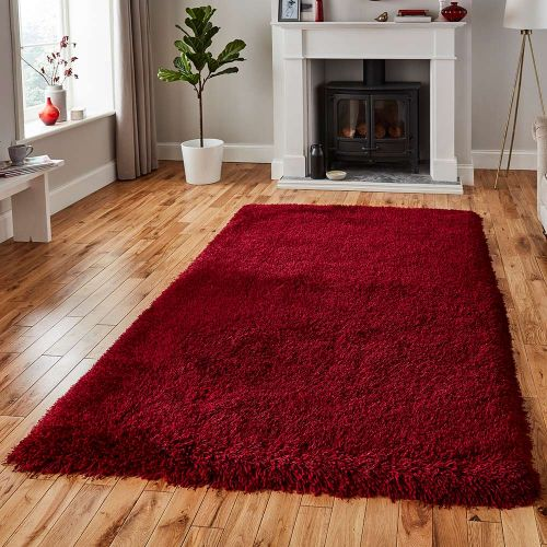 Montana Shaggy Rug Dark Red