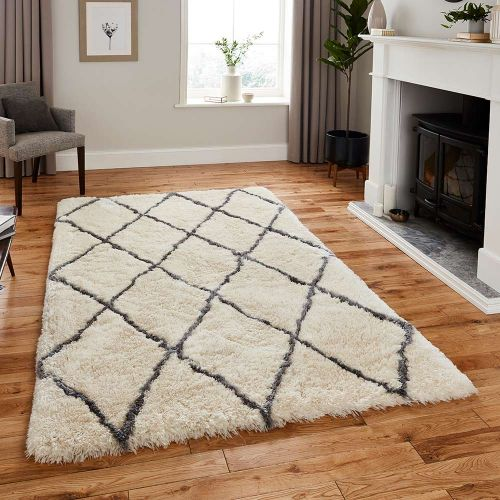 On Sale Morocco Rug 2491 Ivory Grey 120x170cm size