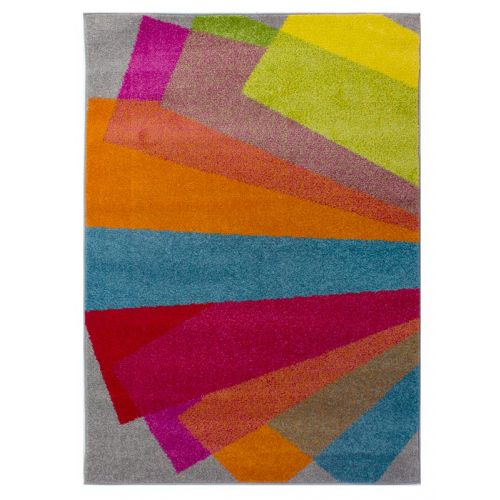 Multi Colour Fan Rug