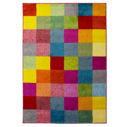 Multi Colour Grid Rug