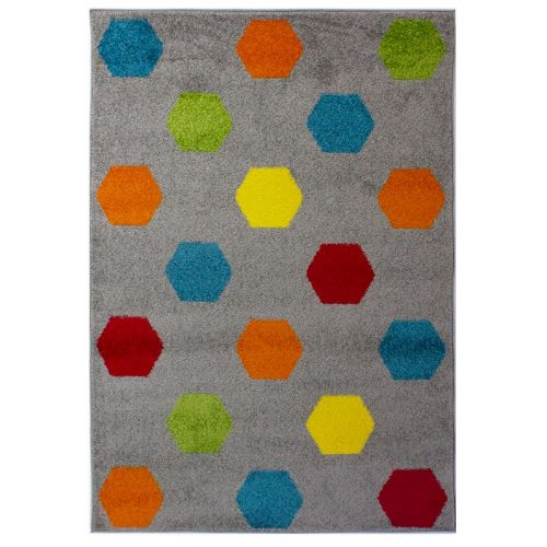 Multi Colour Hex Rug