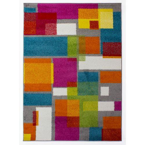 Multi Colour Overlay Rug