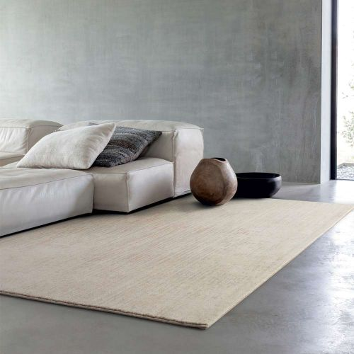 Natural Cream Stripe Rug Chamonix